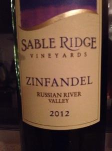 Sable Ridge Zin